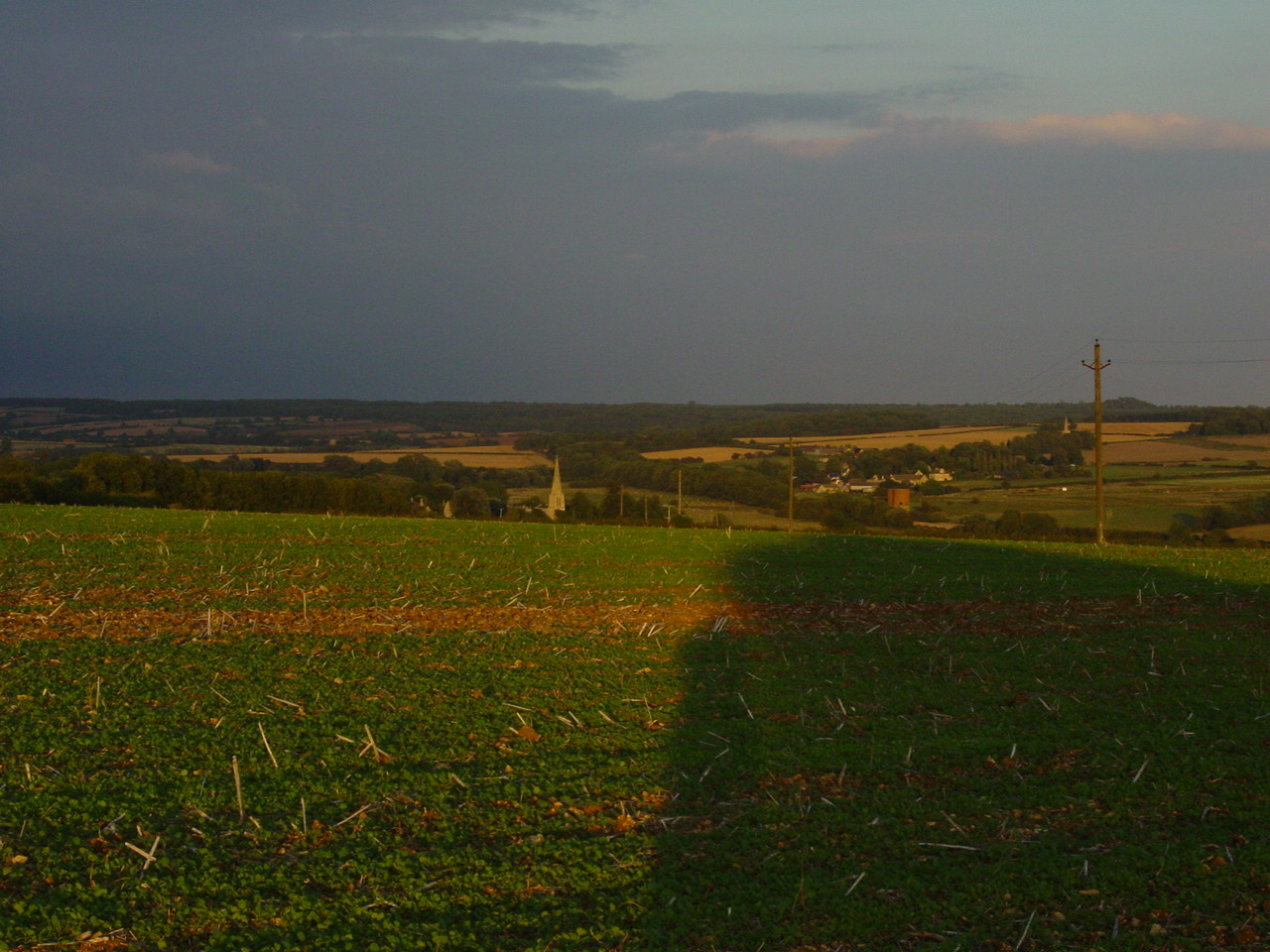 A warm summer's evening looking towards Barrowden Church, the starting point for todays walk. (picture taken in 2006 as weather bad on this occasion).