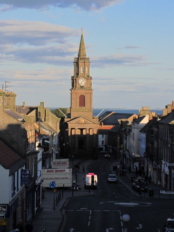 Berwick upon Tweed Town Hall dominates the centre of the town.