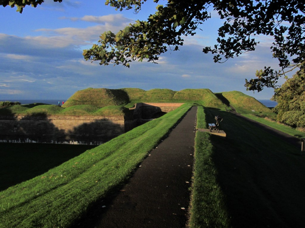 The Elizabethan Town Walls make a lovely evening walk around Berwick upon Tweed.