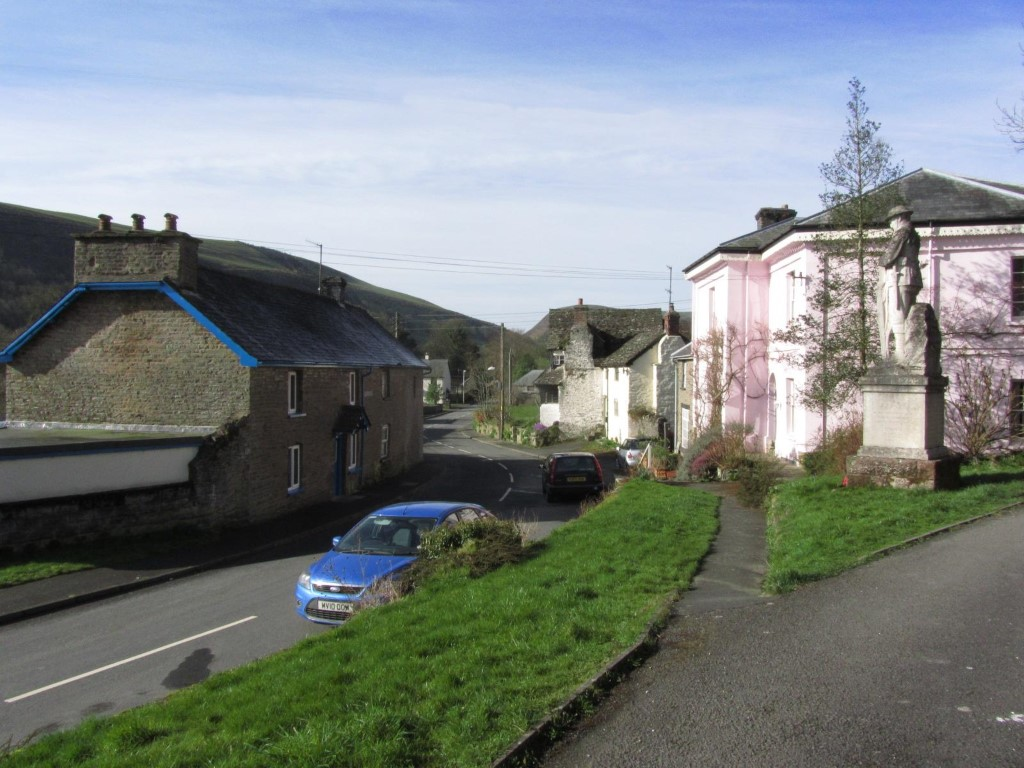 The quiet village of New Radnor in a almost forgotten corner of Powys.