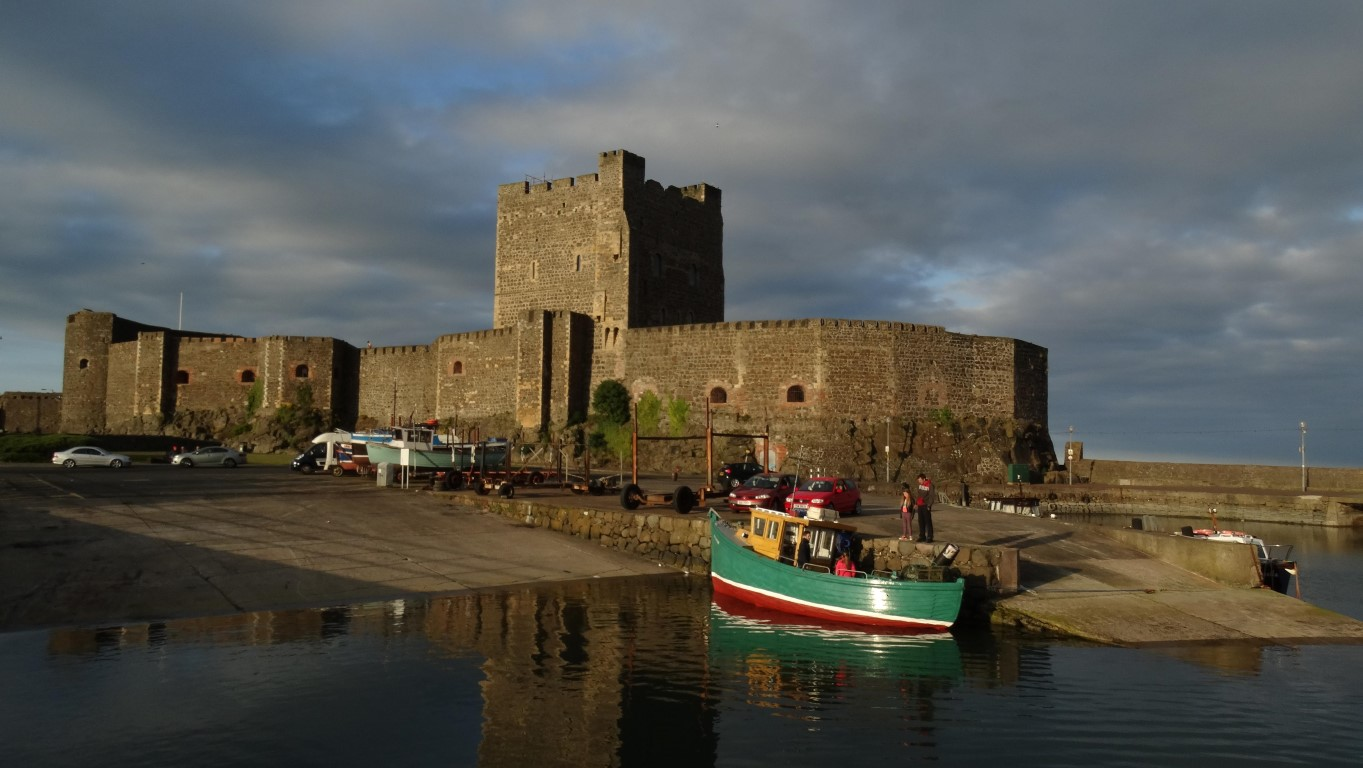 Evening sunlight on Carrickfergus Castle. A perfect way to end the day with a wander along the seafront and around the harbour.