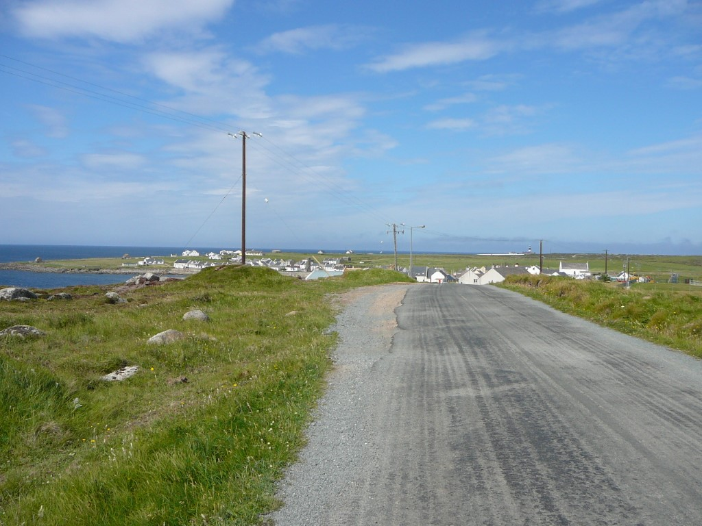 The island road running east out of West Town.