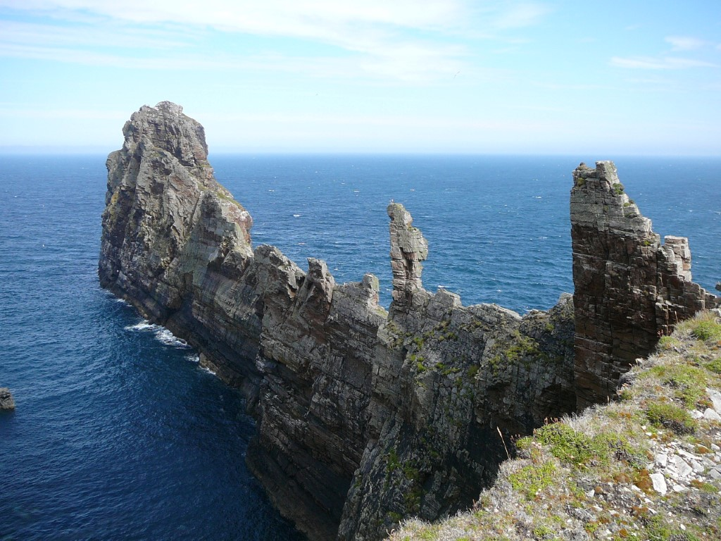 This knife edge promontory thrusts out into the Atlantic on the north side of Tory Island.