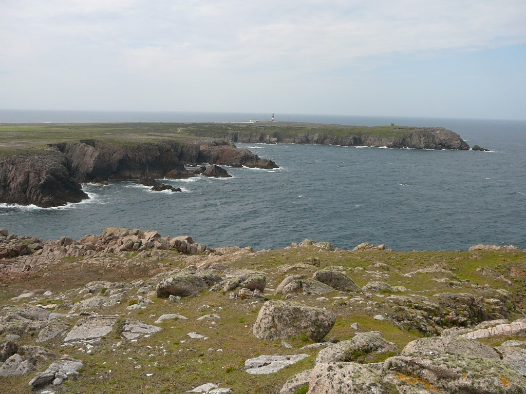 the rocky north coast with the view towards the lighthouse.
